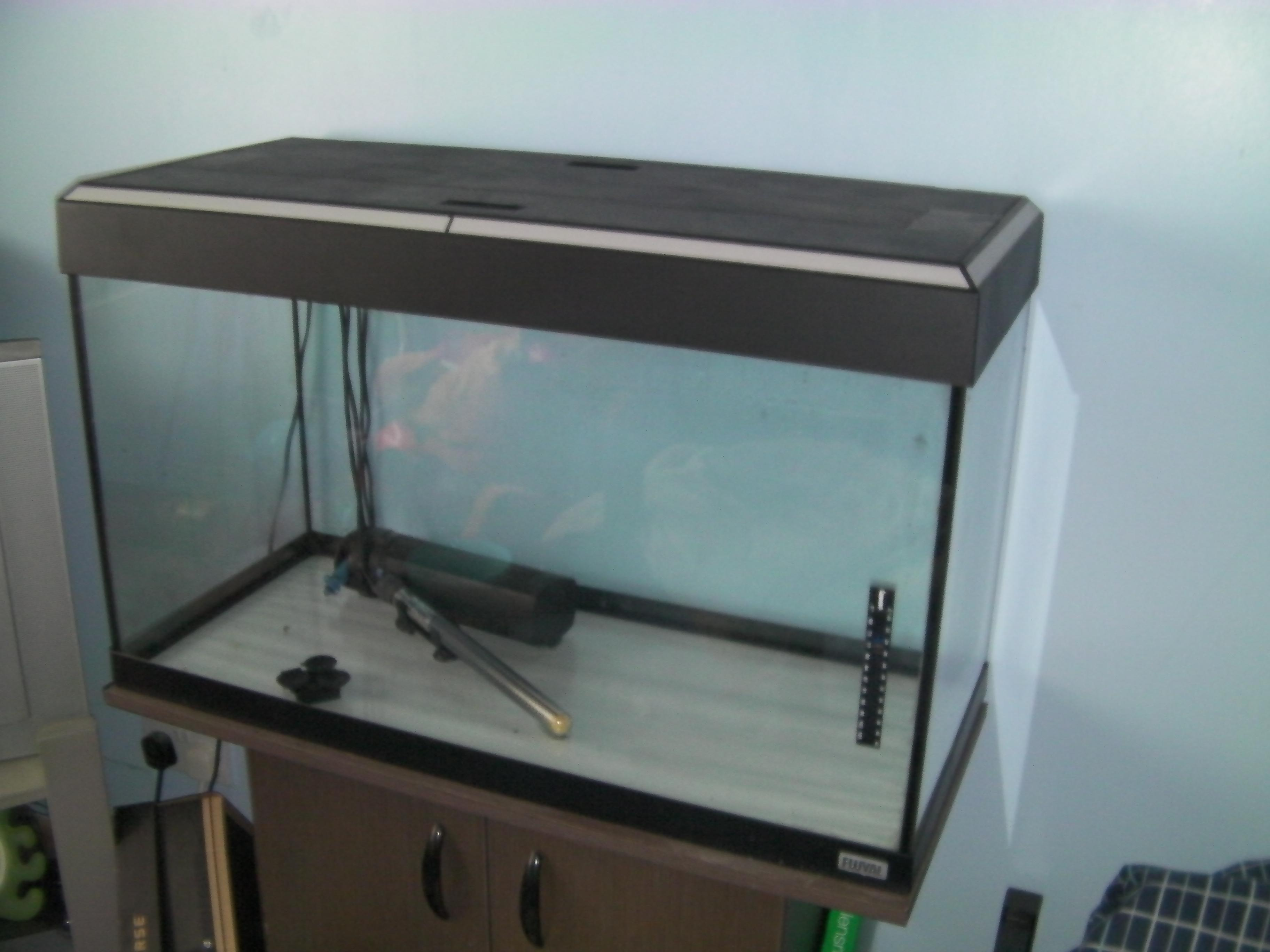Fluval roma 240 aquarium fish tank - Fluval Roma 125 Stand Equipment Side View Low Jpg